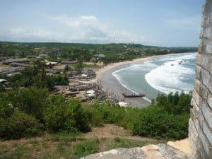 mooie uitzicht op de kust in Ghana