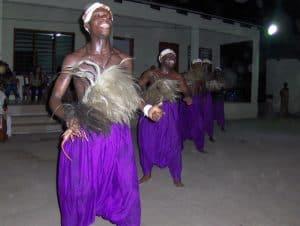 traditionele dans in Ghana in het dorp